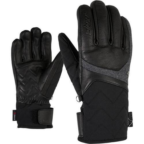 ZIENER Damen Handschuhe KRISTALL AS(R) AW, Größe 7,5 in black