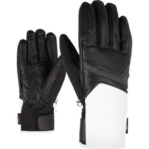 ZIENER Damen Handschuhe KRISTALL AS(R) AW, Größe 7,5 in white