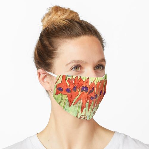 64. Desert Pea und Känguruhpfote Maske