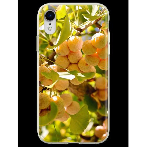 Ginkgobaum mit Obst Flexible Hülle für iPhone XR