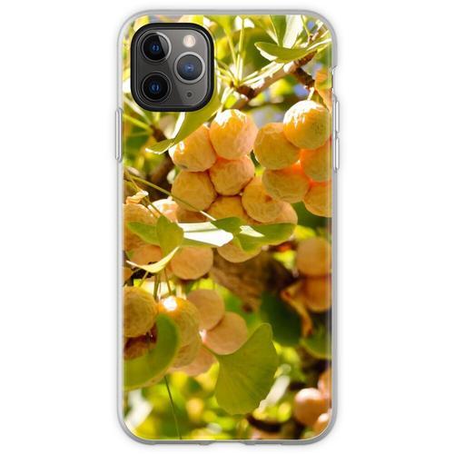 Ginkgobaum mit Obst Flexible Hülle für iPhone 11 Pro Max