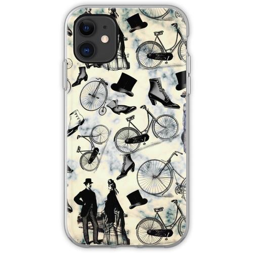 Viktorianische Fahrräder und Mode Flexible Hülle für iPhone 11