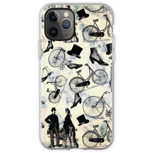 Viktorianische Fahrräder und Mode Flexible Hülle für iPhone 11 Pro