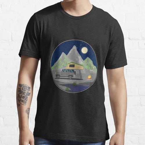 Sternenhimmel Dachzelt - Dachzelt Outdoor Geschenk für Camper Naturliebhaber Natu Essential T-Shirt