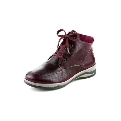 Avena Damen Hallux-Lammfell-Boots Sporty Rot