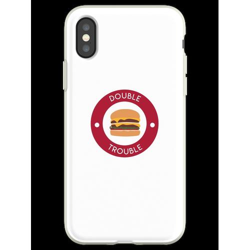 Doppelter doppelter Burger Flexible Hülle für iPhone XS