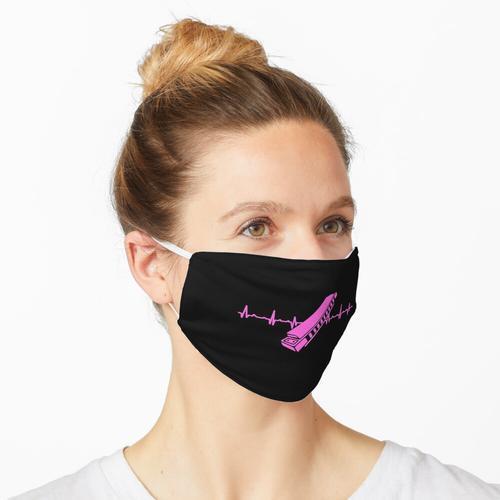 Mundharmonika Geschenk für Harmonika Musikanten Maske