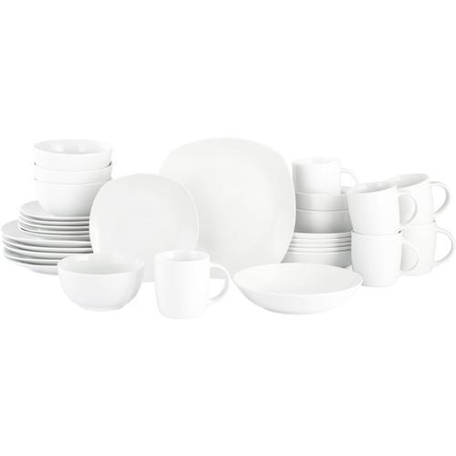 Retsch Arzberg Kombiservice EVERY DAY, (Set, 30 tlg.), eckige Coupform weiß Geschirr-Sets Geschirr, Porzellan Tischaccessoires Haushaltswaren