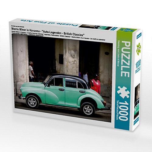 """""""""""""""Morris Minor in Havanna - Ein Motiv aus dem Kalender """"""""Auto-Legenden - British Classics"""""""" Foto-Puzzle Bild von Henning von Loewis of Menar Puzzle"""""""""""""""