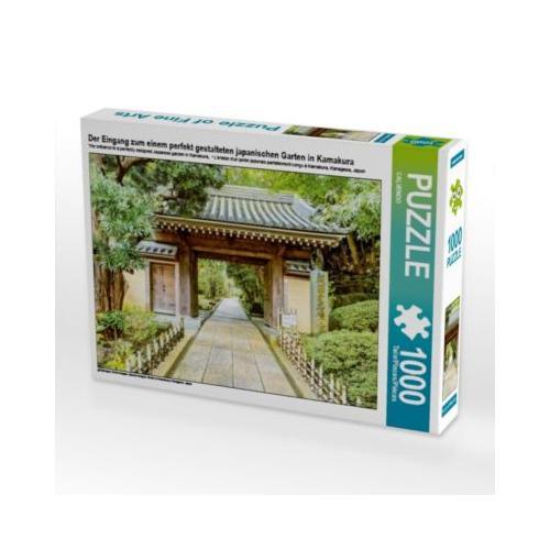 Der Eingang zum einem perfekt gestalteten japanischen Garten in Kamakura Foto-Puzzle Bild von CALVENDO Verlag Puzzle