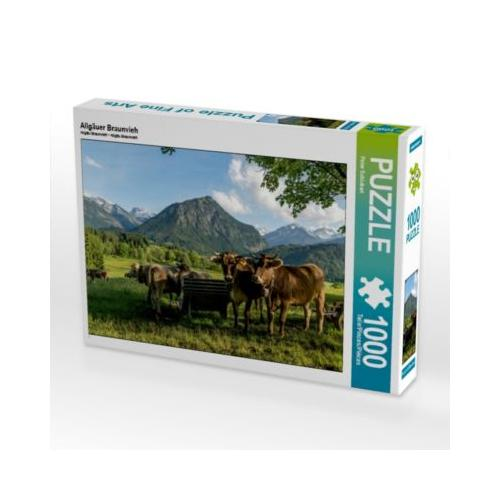Allgäuer Braunvieh Foto-Puzzle Bild von Peter Schickert Puzzle