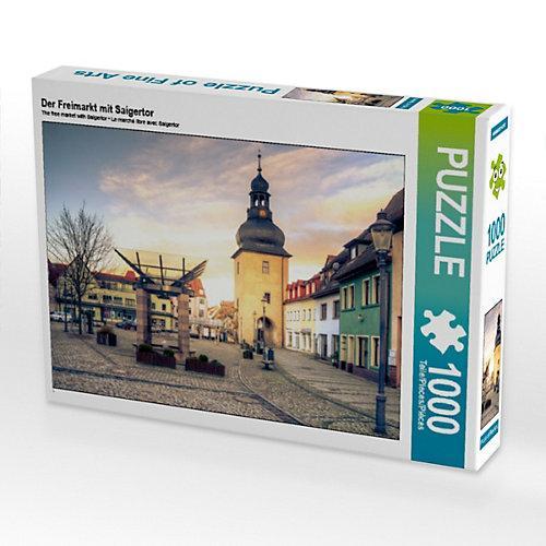 Der Freimarkt mit Saigertor Foto-Puzzle Bild von Steffen Gierok ; Magik Artist Design Puzzle