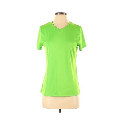 Hanes Active T-Shirt: Green Solid Activewear - Size Small