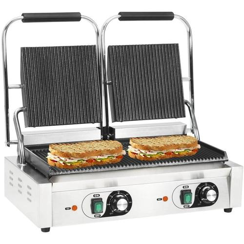 Doppelter Gerillter Panini-Grill 3600 W 58 x 41 x 19 cm 30591 - Topdeal