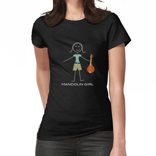 Lustige Damen-Mandolinen-Gitarre, Mädchen-Mandolinen-Spieler-Geschenk, Mandoline Frauen T-Shirt