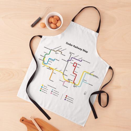 Sodor Eisenbahnkarte - TTC Style, Light Schürze