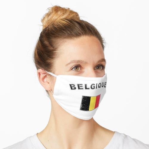 Belgien belgisch Flagge Fahne used-look Maske