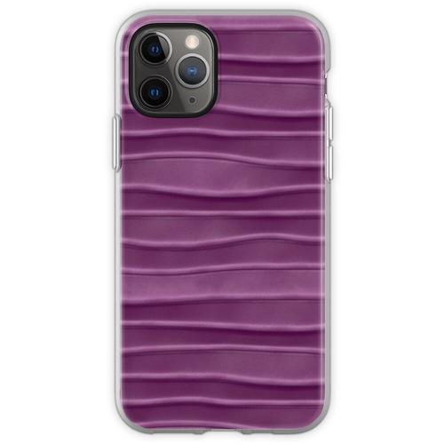Lila, Seide, Satin, Stoff, Textur Flexible Hülle für iPhone 11 Pro