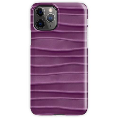 Lila, Seide, Satin, Stoff, Textur iPhone 11 Pro Handyhülle