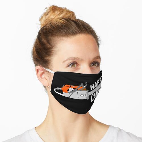 Glücklicher Holzschnitzkettensägenschnitzer Maske