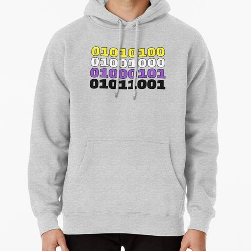 Non-Binary Binary Code (THEY) Pullover Hoodie