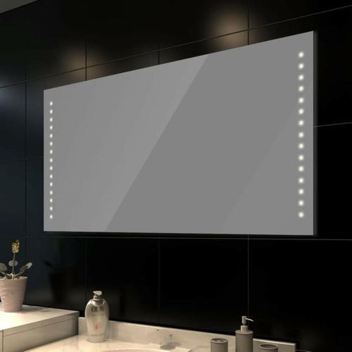 Badspiegel mit LED-Leuchten 100x60 cm 08242 - Topdeal