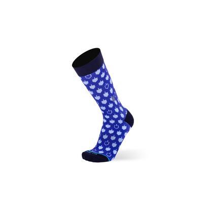 Men's Big & Tall The Dreidels Socks by TallOrder in Blue (Size 12-15)