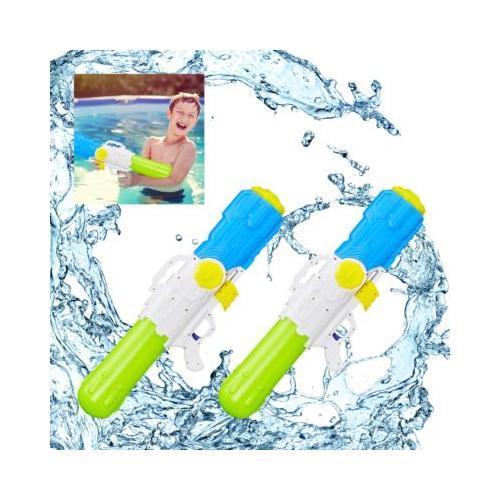 2 x Wasserpistole XXL Pumpgun Wasser Watergun Wasserspritze Spritzpistole Kinder mehrfarbig