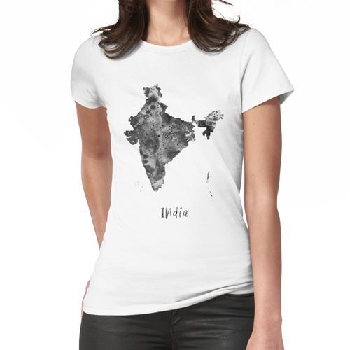 Indien Karte, Indien Frauen T-Shirt