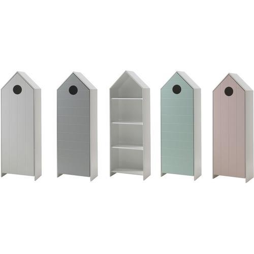 Kleiderschrankset Maxi Vipack Regal und 4 Kleiderschränke mit Kleiderstange + Einlegeböden MDF Holz