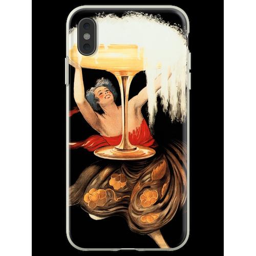 CONTRATTO SPARKLING WINE 1922 Italien Alkoholwerbung von Leonetto C Flexible Hülle für iPhone XS Max
