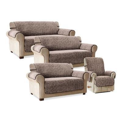 Lenora Sherpa Furniture Protector Recliner/Wing Chair, Recliner/Wing Chair, Navy
