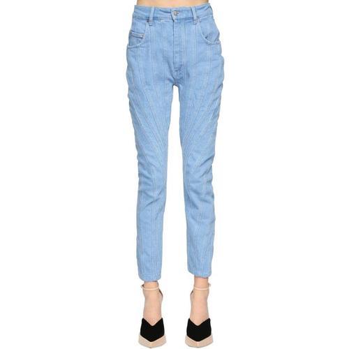 Mugler Jeans Aus Baumwolldenim-patchwork