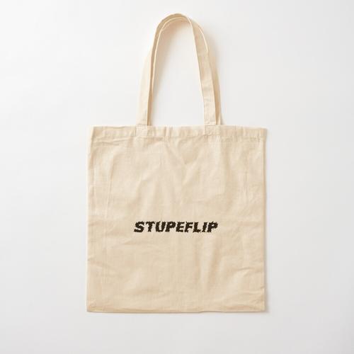 Stupeflip Logo schwarz Baumwolltasche