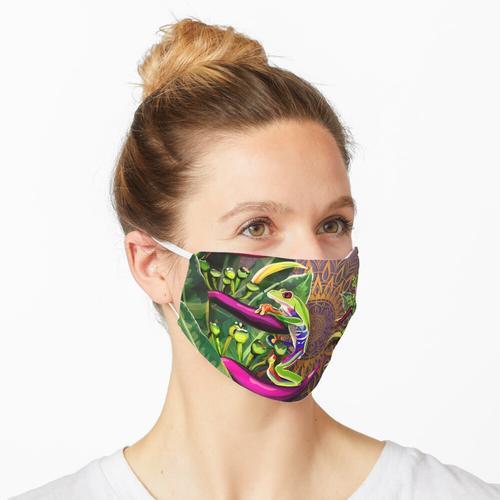 Rotaugenlaubfrosch Maske