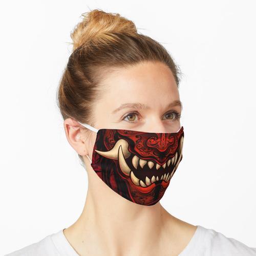 Goth Red Gothic Oni Maske
