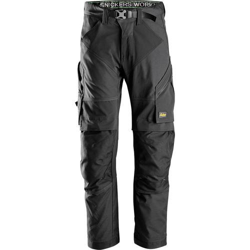 Snickers Workwear Arbeitshose FlexiWork, Gr. 48 - 56 schwarz Herren Arbeitshosen Arbeits- Berufsbekleidung