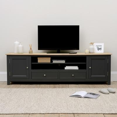 Ellwood Charcoal NEW Extra Large TV Stand - Up to ''99