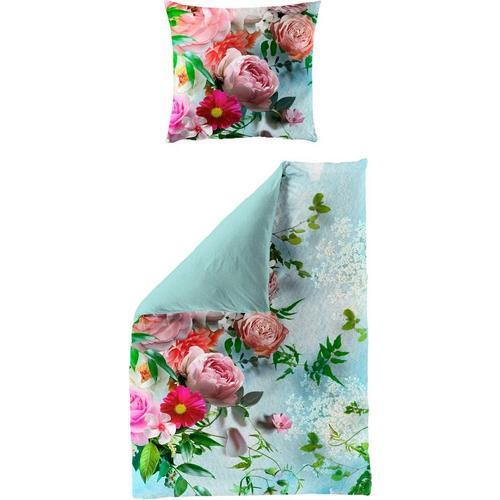 Bettwäsche »Romantic«, BIERBAUM, mit romantischen Blumen