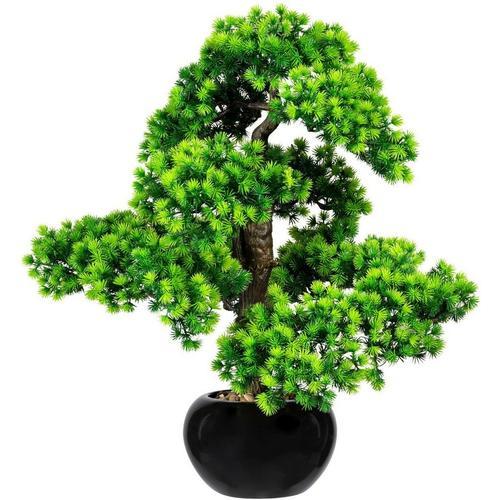 Kunstbonsai »Bonsai Lärche« Bonsai Lärche, Creativ green, Höhe 60 cm, im Keramiktopf