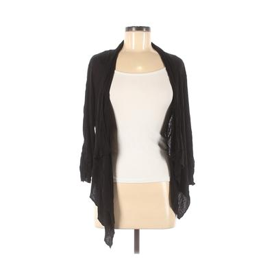 About A Girl Cardigan Sweater: Black Solid Sweaters & Sweatshirts - Size Medium