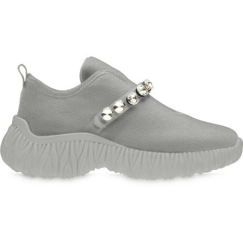Miu Miu Slip-On-Sneakers mit Kristallen