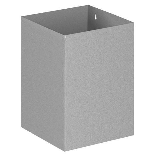 Viereckiger Papierkorb, VB 110200, Grau