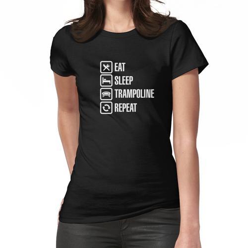 Eat Sleep Trampoline Repeat Lustige Trampolin Springen Kinder trampolinist Trampolin Frauen T-Shirt