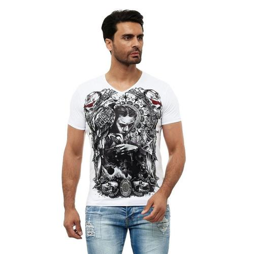 KINGZ T-Shirt mit ausgefallenem Design