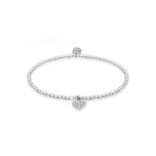 Elli Armband »Herz Symbol Kristalle 925 Silber«