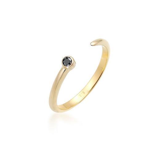 Elli Diamantring »Solitär Schwarzer Diamant (0.03 ct) 375 Gelbgold«