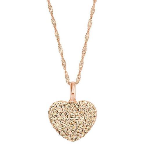 Amor Kette mit Anhänger »Herz, 9207855«, mit Kristallglassteinen