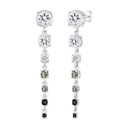 Elli Paar Ohrhänger »Ohrhänger Kristalle 925 Silber«