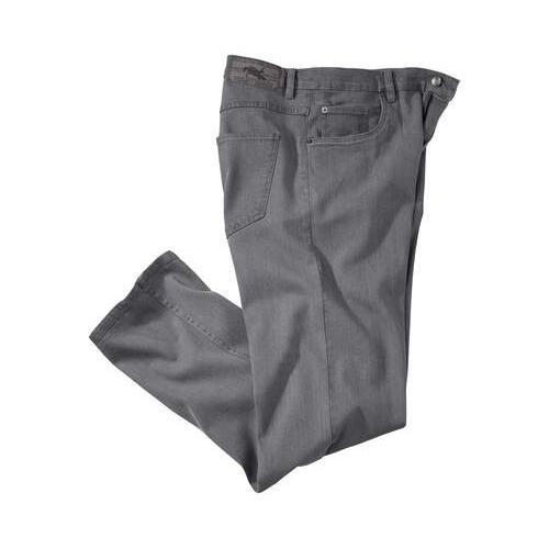 Graue Stretch-Jeans